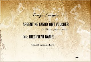Argentine tango lesson gift voucher image